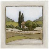 Maison et Chemin Manuscrit Affiches par Véronique Didier-Laurent