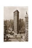 Flatiron Building, c.1912 (sepia) Poster