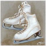 Patins Blancs Affiches par Stéphanie Holbert