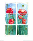 Poppies Print by P. Sonja
