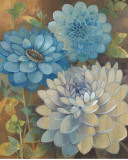 Pretty Blue Dahlias I Prints by Vera Hills