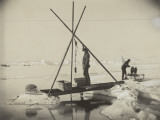 Nansen Takes a Reading of Deep Arctic Ocean Water Temperature Photographic Print by Fridtjof Nansen