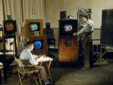 Researchers Test Color Balance on a New Invention, a Color Television Photographic Print by Willard Culver