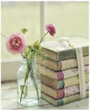 Blommande böcker Posters av Mandy Lynne