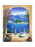 Bellagio Lake Como, From the Terrace Giclee Print by Marilyn Bast Dunlap