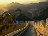 A Backlit View of the Great Wall of China at Juyongguan Photographic Print by Michael S. Yamashita