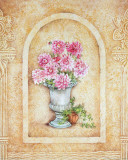 Vase of Flowers and Fresco Background II Prints by C. Beneforti