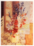 Flowers in Hearth Prints by Geraldine Girvan