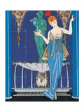 Woman and Fountain Giclee Print by Georges Barbier