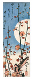 Blossoming Plum Tree with Full Moon Reproduction procédé giclée par Ando Hiroshige