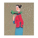 Woman In Snow Giclee Print