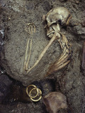 The Skeleton of This Woman Was Buried with a Treasure of Jewels Photographic Print by O. Louis Mazzatenta