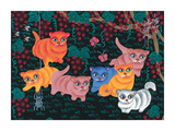 Kittens and Spider Giclee Print