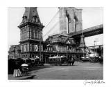 Fulton Ferry and Brooklyn Bridge, c.1885 Poster