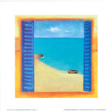 Window on the Sea II Print by P. Birkin