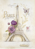 Eiffel Tower Roses Affiches par Angela Staehling
