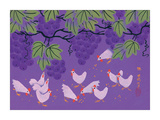 Pink Chickens Giclee Print