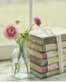 Libros en flor Lámina por Mandy Lynne