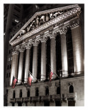 New York Stock Exchange at Night Prints by Phil Maier
