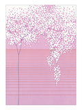 Floral with Horizontal Lines Giclee Print by Takashi Sakai