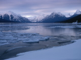The Lewis Range and Partially Frozen Lake Mcdonald Photographic Print by Sam Abell