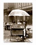 Pretzel Vendor, Duane Street, Manhattan, c.1918 Print