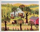 The Village Smithy Poster von Konstantine Rodko