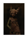 A Nine-Year Old Dancer in Her Gilded Crown and Costume Photographic Print by Franklin Price Knott