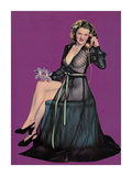 Pin Up and Phone Giclee Print