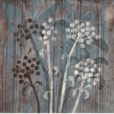 Modern Aqua Floral I Prints by Filippo Ioco