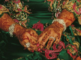 A Bride's Hands Respendent with Jewels and Decorated with Henna Photographic Print by James L. Stanfield