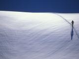 Cross-Country Skiing on a Glacier in Alaska Fotografisk tryk af John Burcham