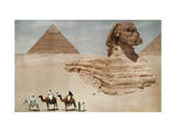 The Great Sphinx and the Second, or Khephren, Pyramid Photographic Print by Hans Hildenbrand