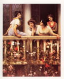 The Balcony Art by Eugene de Blaas
