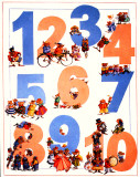 Numbers Posters by Francis Wainwright