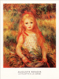 La Fillette a la Gerbe Art by Pierre-Auguste Renoir