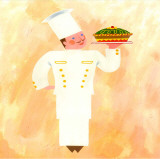 Chef de Cuisine Prints by L. Morales