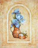 Vase of Flowers and Fresco Background IV Prints by C. Beneforti