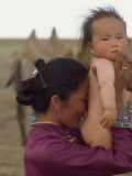 A Mongolian Mother and Baby Photographic Print by James L. Stanfield