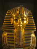 A Close View of the Gold Funerary Mask of the Pharaoh Tutankhamun Photographic Print by Kenneth Garrett