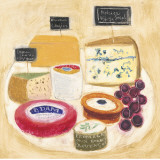 Cheese Plate II Art by Maret Hensick