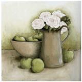 Pommes et Roses Posters par Véronique Didier-Laurent