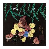 Hen and Ten Chicks Reproduction procédé giclée