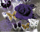 Butterfly Collage Purple Posters by Evangeline Taylor