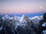 Moonrise over the Golden Throne and the Gasherbrum Massif Beyond Photographic Print by Bill Hatcher