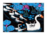 Fourteen Swans Giclee Print