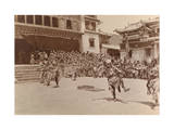 Monks Dressed as Departed Spirits Perform During Cham-Ngy On-Wa Photographic Print by Dr. Joseph F. Rock