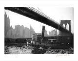 Fulton Tug Boat, Brooklyn Bridge, c.1920 Affiches
