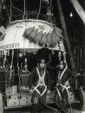 Researchers Prepare for a Flight in the Stratosphere Balloon Photographic Print by Richard Hewitt Stewart
