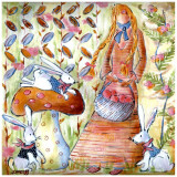 Fée d'Automne Prints by Joelle Wolff